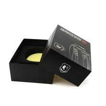 Matt black little gift package package paper box divided cardboard box with foam cardboard box inserts