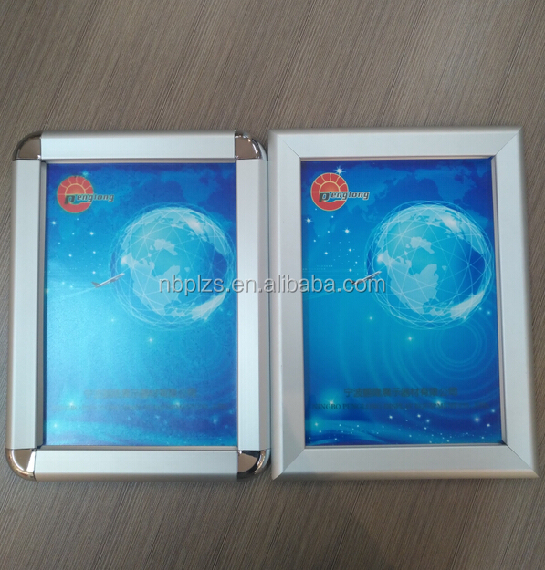 Front open wall mounted frame a5,aluminum snapper frame,<strong>poster</strong> snap together frame a4