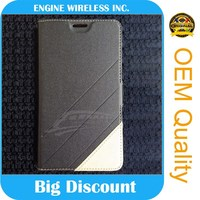 Original wholesale leather flip case for sony xperia neo l mt25i