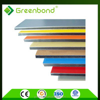 Greenbond different types wall finishes partition wall material acm sheets