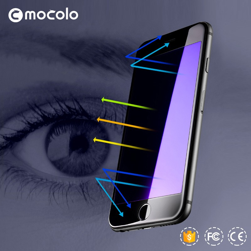 Color Mocolo 3D Curbed Light Tempered Glass Protective film for iphone 6 Protective eye screen guard film for iphone 6Plus