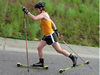 New Glass fiber roller ski with wood core rubber wheel