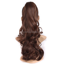Black Brown Blonde Red Synthetic Women Claw on Ponytail Clip in Pony Tail Hair Extensions Curly Style Hairpiece