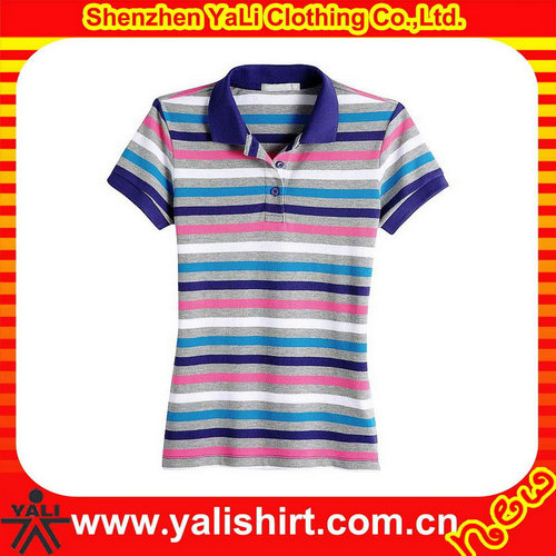 Contemporary new women s plain color polo