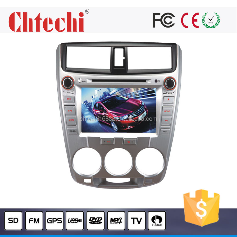 special car dvd player / car radio for City with GPS navigation bluetooth RDS touch sreen TV