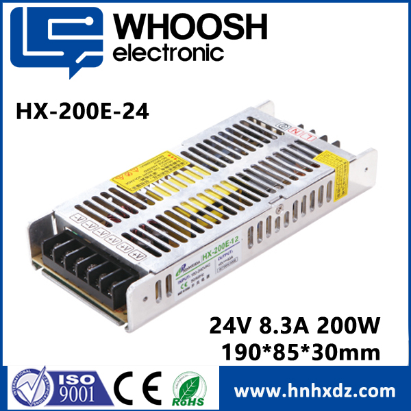 dc led driver 24V dimmable constant voltage 200W 24V waterproof led power supply with IP66