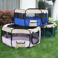 Folding Metal Playpen Kennel metal wire Pet outdoor playpen