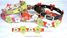 embroidered leather dog collars