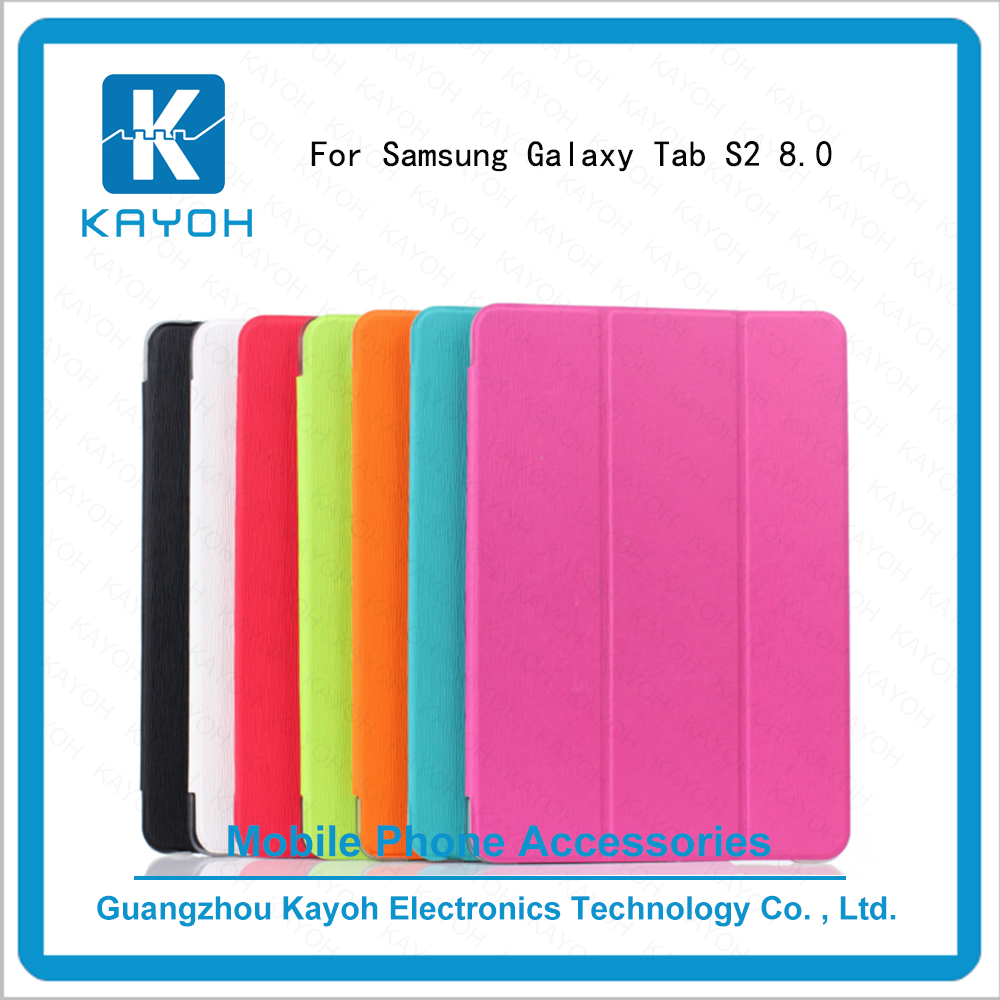 [kayoh]Toothpick grain New Smart Book Cover Stand Flip Leather For Galaxy Tab S2 8.0 T710 T715