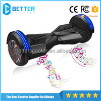 Hot mini electric skateboard smart balance wheel 8 inch with bluetooth LED light self balancing scooter