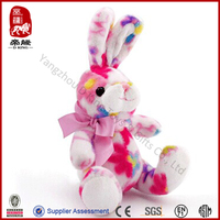 Gift for kids plush rabbit mini cute colorful rabbit