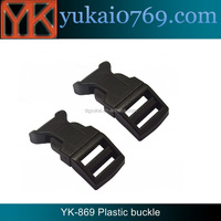 Yukai plastic curved bag buckle/safety double adjustable plastic buckle