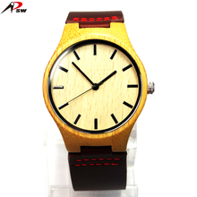 Fashion hand made natural wholesale western wooden wrist watch