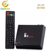 High-tech OEM quad core 2G 16G Android 5.1.1 DVB S2 T2 KII Pro Combo TV box 4k satellite receiver