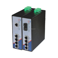 Wintop; RS105P Series; 5 port;PoE Industrial Ethernet Switch; 4 TP port and 1 Fibers port (4TP+1F); DIN-Rail