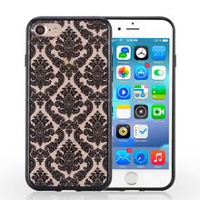 Newest PC+TPU Matte Hard Case Flower Printed Clear Phone Back Cover for iPhone 7 7PLUS