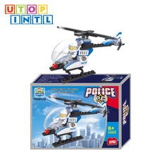 building block helicopter shape plastic connecting toys for kids