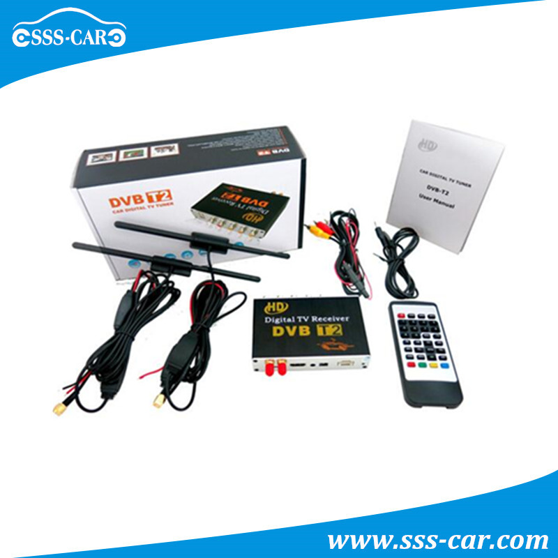 mpeg4 h.264 digital receiver car dvb-t2 with Double Antenna,1080P HD,PVR,High Speed 130-140km/h