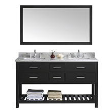 Factory Price Lowes Modern Black Wood Double Sink Used Bathroom Vanity Cabinets