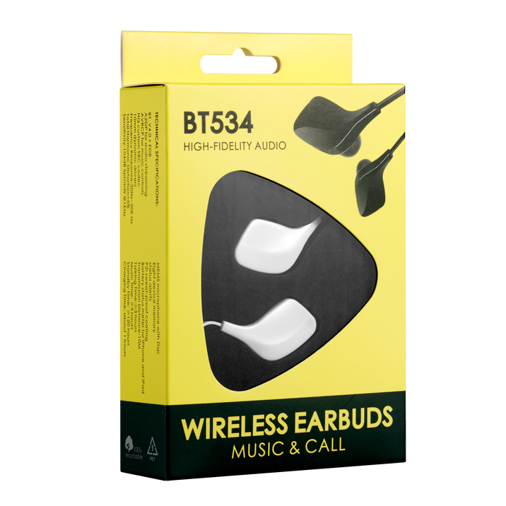 Wallytech BT534 Wireless Bluetooth 4.0 Earbuds. Premium wireless Earbud Headphones with built in Microphone