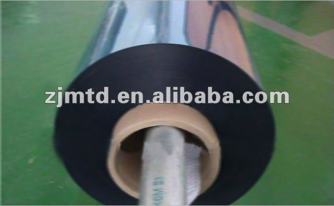 High reflectivity aluminum metalized pet film for yarn and kinds of composite packaging material