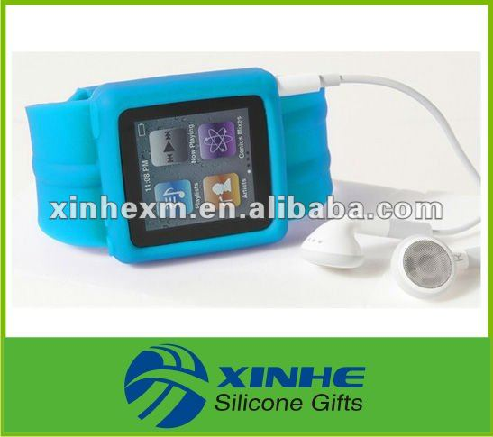 2012 Fashion silicone watch band mp3 player