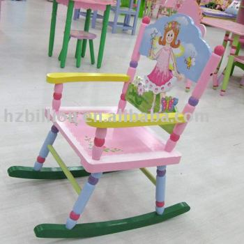 wooden kids rocking chair furniture