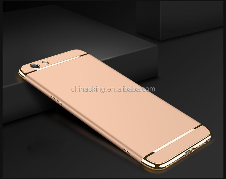Fashion Luxury 3 in 1 Combo Case Electroplating Cover for OPPO R9 R9 plus F1S NEO 7 A33 NEO 9 A37 Phone Cover OPPO