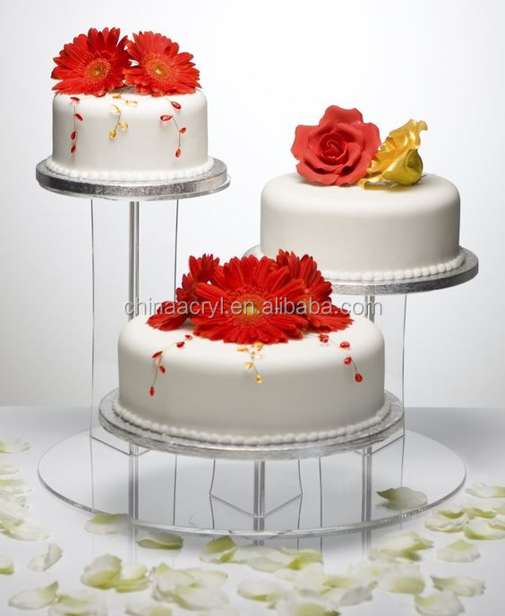 Nice Multi Function Acrylic Crystal Wedding Cake Stand With Lights Manufacture