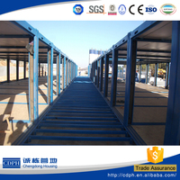 two floors prefabricated container house sale, modern design container homes, container shelter