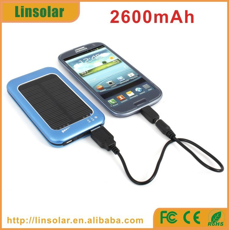 hot sales portable solar charger cell phone solar power phone charger 2600mah