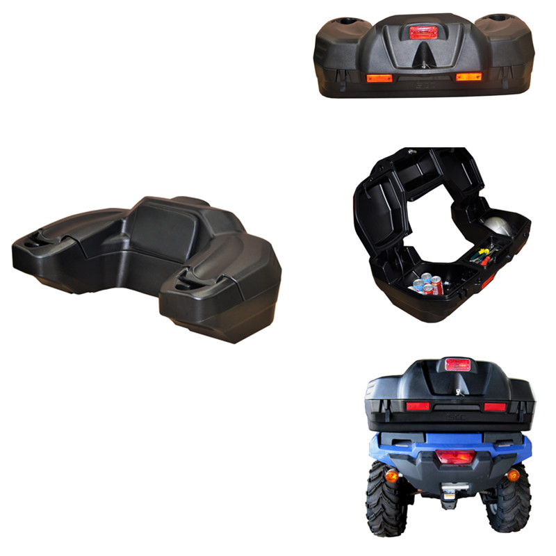 Rotomolded PE 65Litre Black ATV Rear Box for CF Motor Linhai Honda
