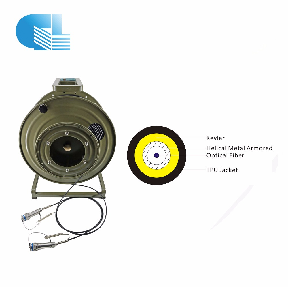 Guanglian armored simplex tactical fiber optic cable assembly