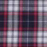 100% combed cotton, plaid dobble face fabric