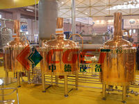 3 vessels red copper Micro beer brewery equipment