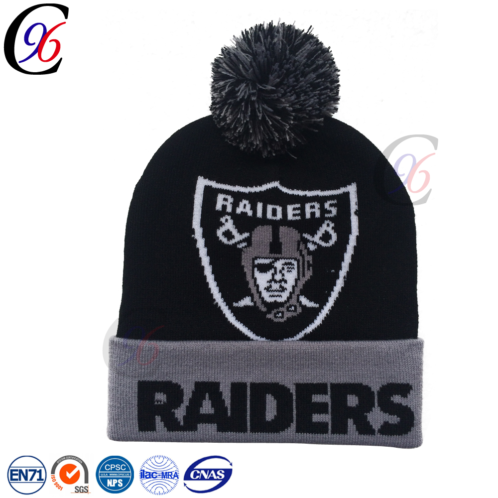 Chengxing custom wholesale top quality crochet beanie bobble knitted keep warm easter hat design your own funny winter hat
