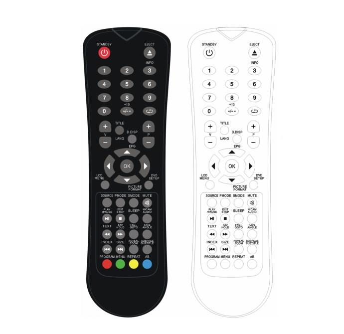 factory price DVD/TV remote control for Skyworth/Hisense