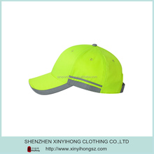 Hot Selling Safety Yellow 100 Percent Polyester Snapback Sport Cap For Man