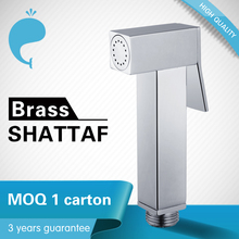 New Brass Square Push Shut-off Bidet Hand Shower Sprayer