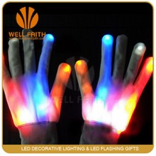 Magic White Led Light Up Customized Led Gloves,Christmas Gifts Led Magic Gloves With Flashing Light