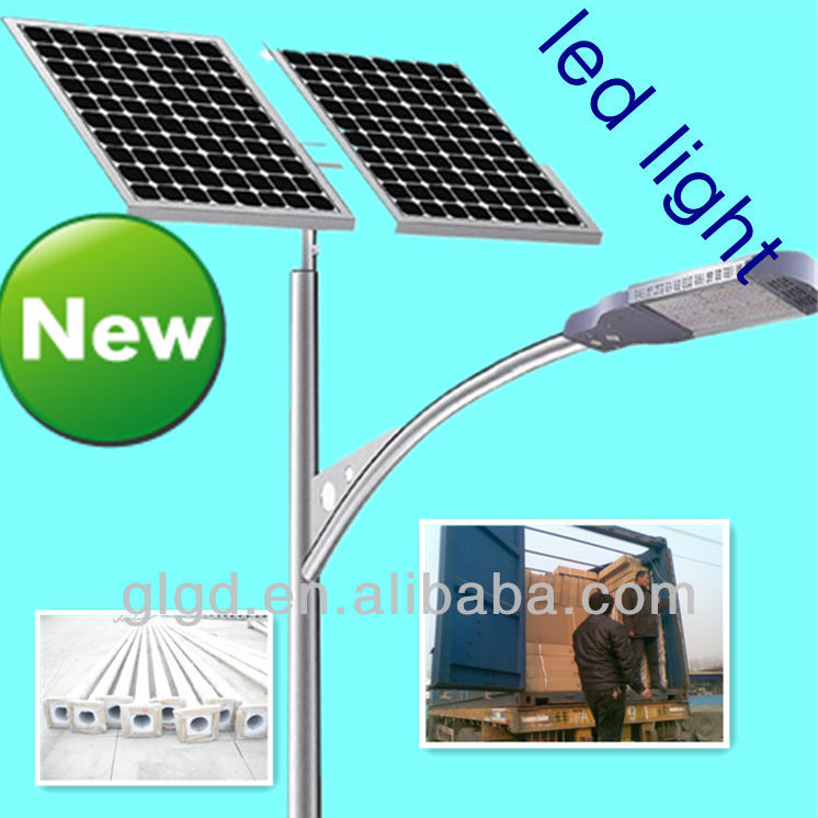DC AC poly PV solar panel 100w ip67 solar charge controller 60000hrs life led street lights