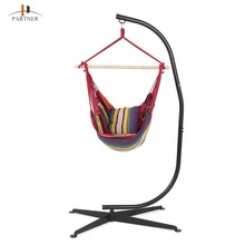 Top Rated Hanging Swing lounge Chair Rope Solid Steel Frame, Organic Cotton Fabric