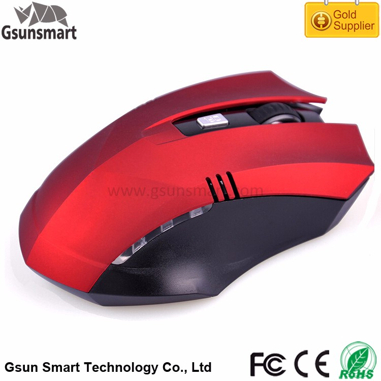 WM-17 Low MOQ for Customized Colors OEM Brand 6D 2.4ghz USB Optical Wireless Gaming Mouse