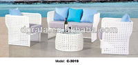 2013 rattan outdoor furnitur,furnitur outdoor,white rattan outdoor furniture was made of metal frame and rattan