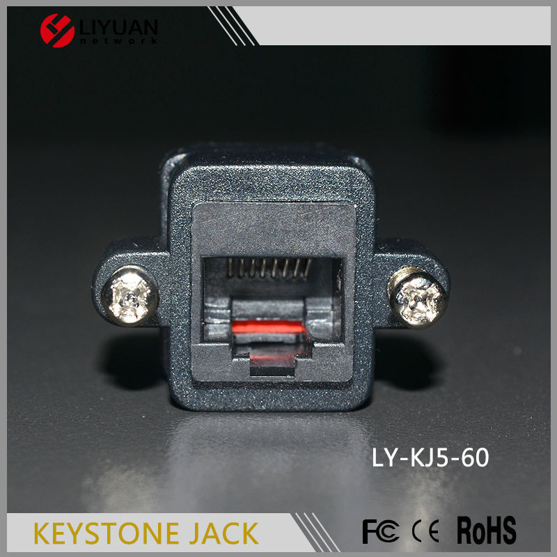 LY-KJ5-60 Single Port White Surface Mount Box for CAT5/CAT6 Keystone Jack