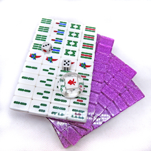 Custom Colored Sparkles High-grade Chinese Crystal Mahjong Set with PVC Case Packaging