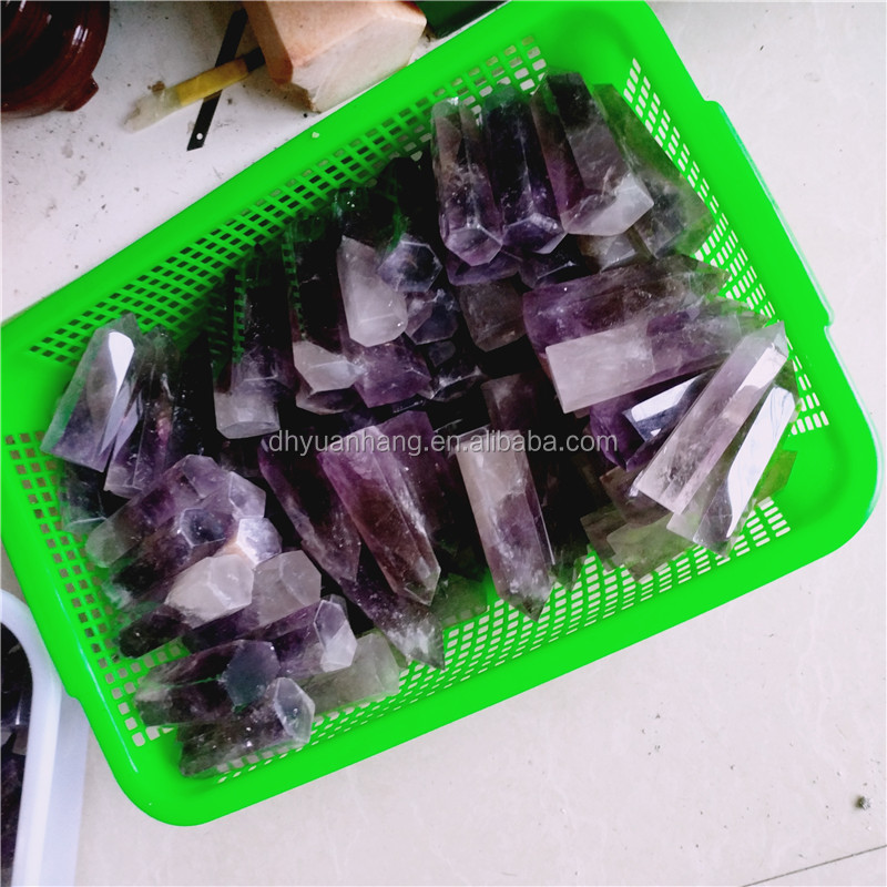 natural small amethyst crystal tower points, crystal generators