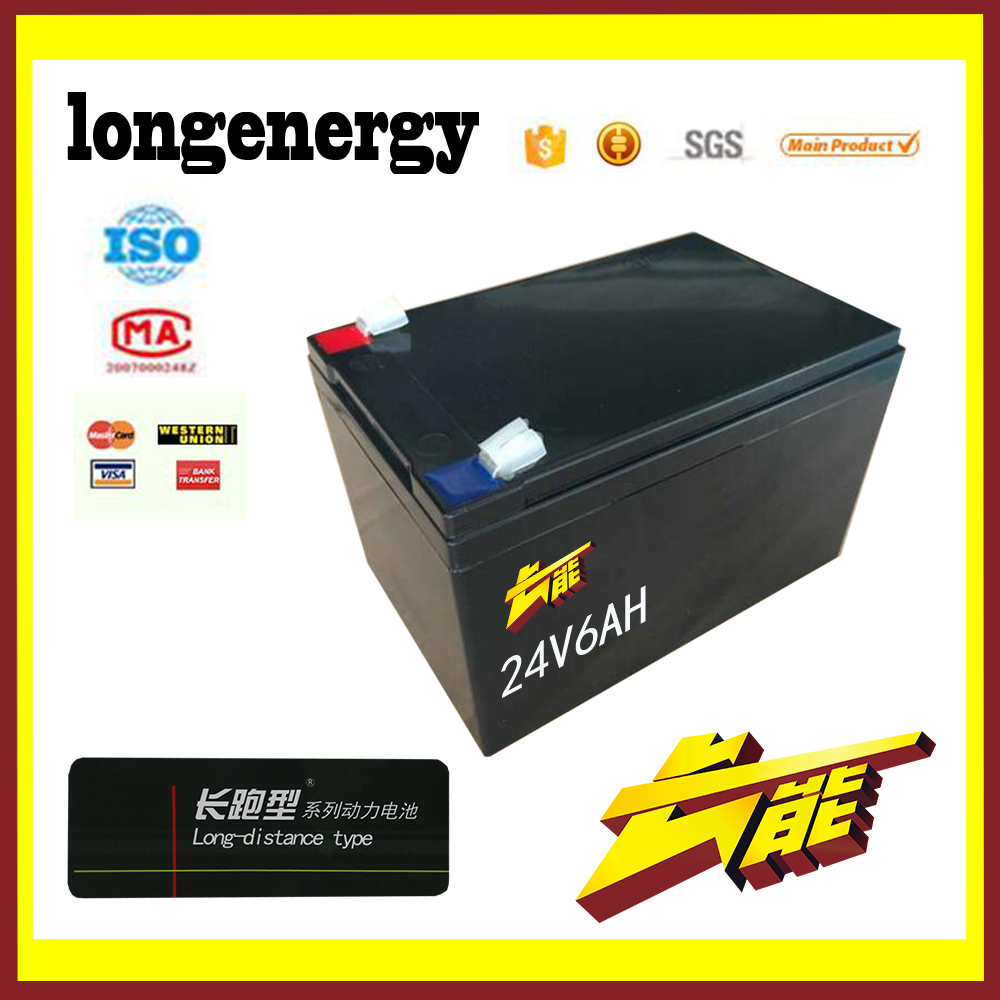 24v 6ah valve regulated sealed battery rechargeable lead acid ups storage battery