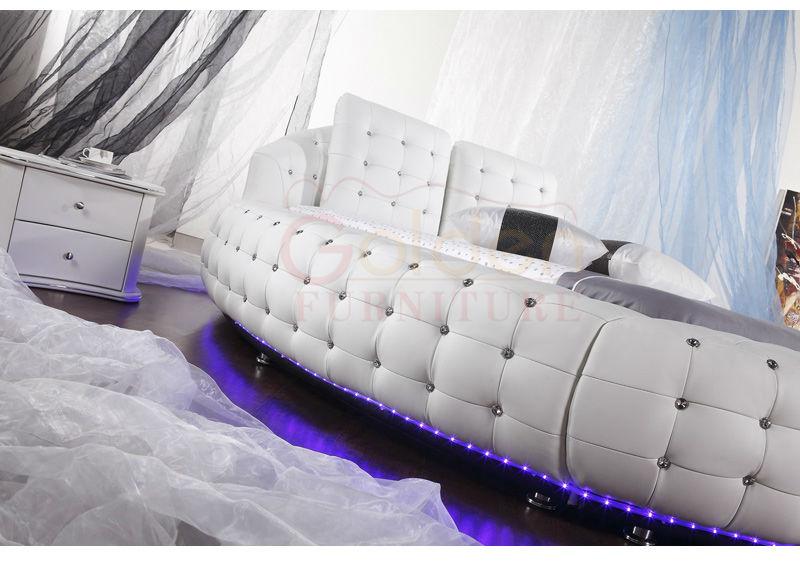 Mobilier Moderne Qinde Manafacturer Adulte, Design Prix Lit Rond 6821 Pour  La Vente