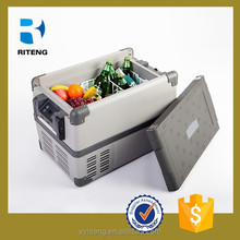 stainless steel cabinet DC12V 24V portable battery and solar car & fridge/mobile frezer/rv freezer